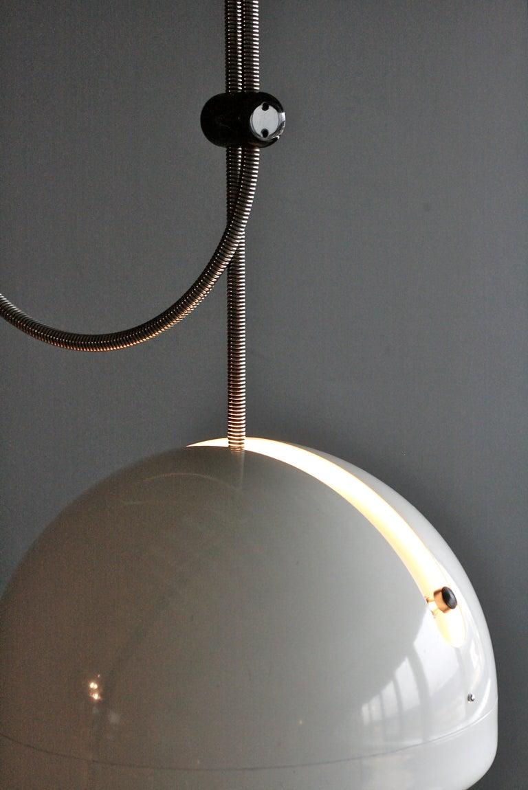 Very Rare Joe Colombo Spring Adjustable Ceiling Light