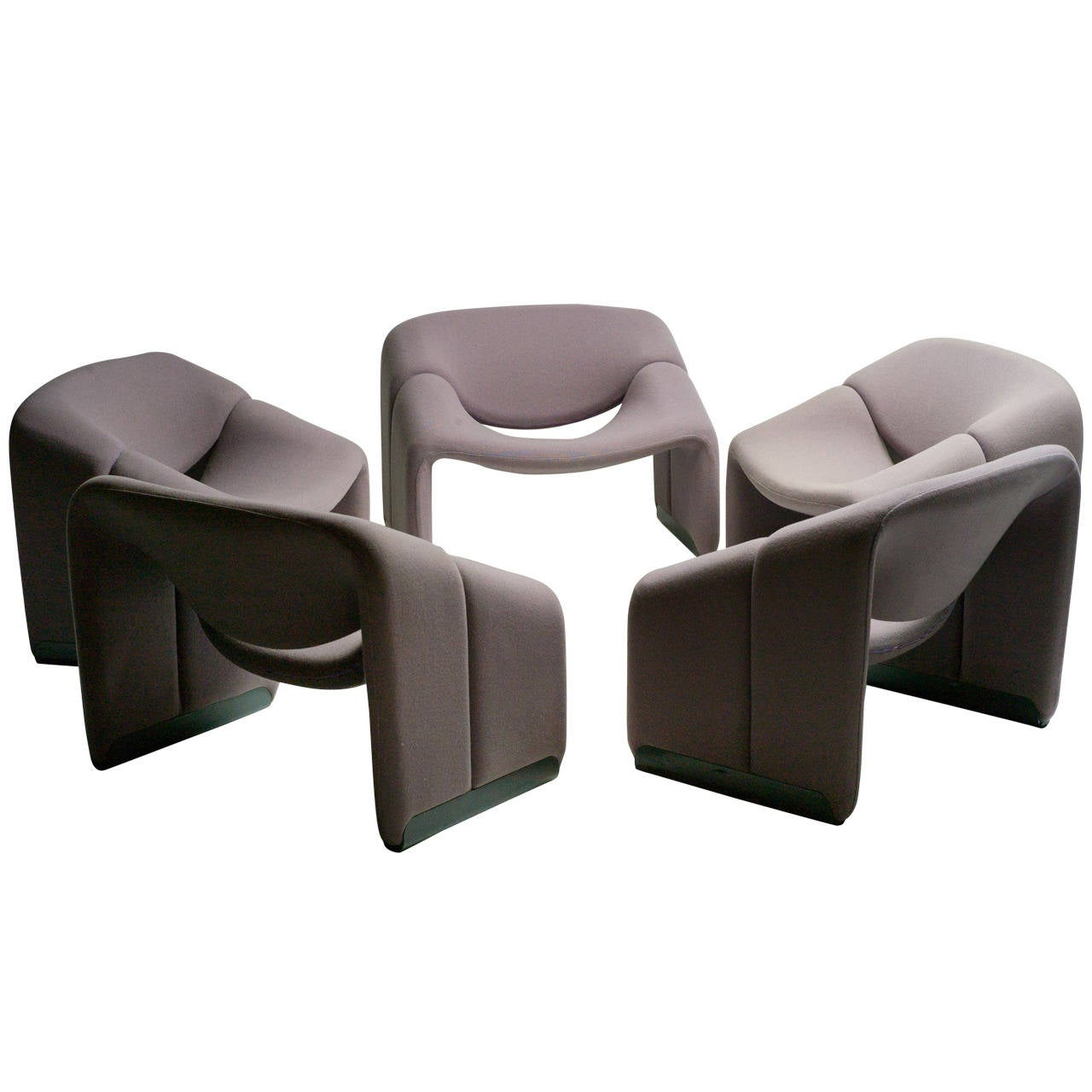 Pierre Paulin Ribbon Chairs In Missoni Fabric At 1stdibs: F598 Groovy Chair By Pierre Paulin For Artifort The