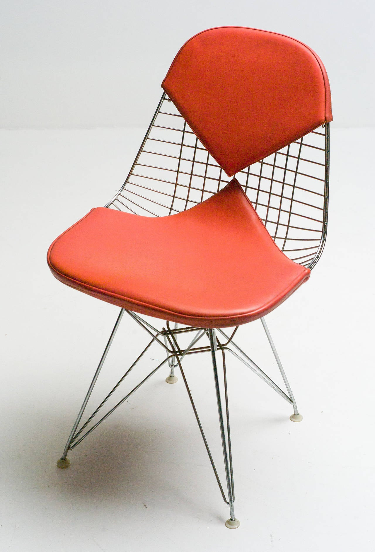charles eames for herman miller dkr wire chair with original