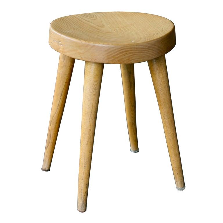 Rare 4 leg stool by Charlotte Perriand for Steph Simon 1