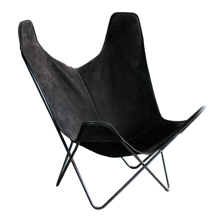 butterfly chair designed by jorge ferrari hardoy at 1stdibs. Black Bedroom Furniture Sets. Home Design Ideas