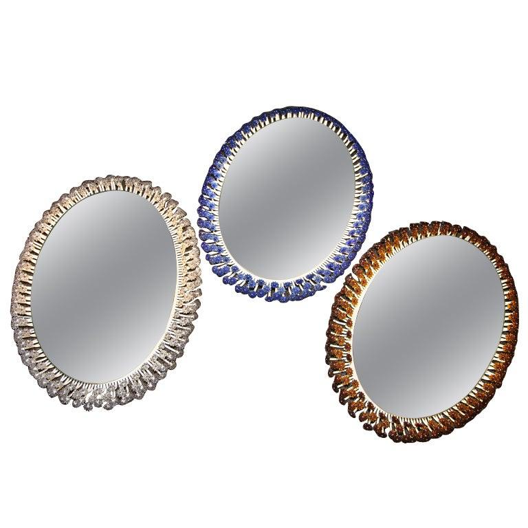 Three Decorative Backlight Mirrors At 1stdibs