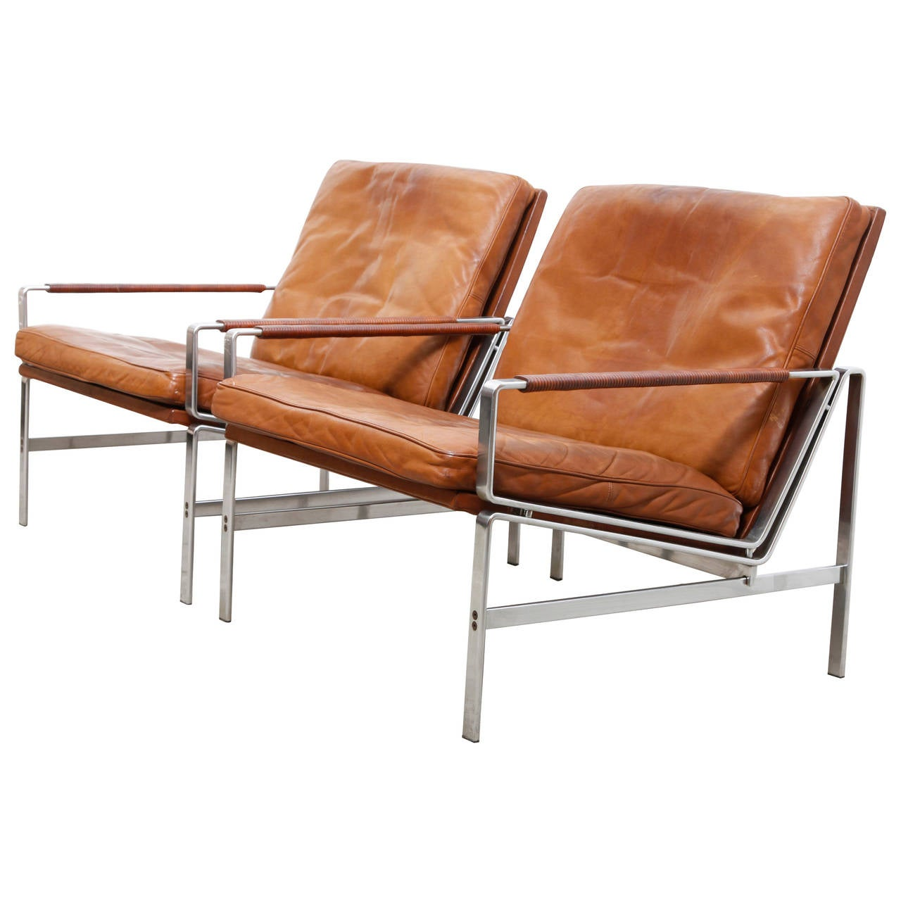 243e71253765 Lounge Armchairs Modell FK 6720 by Preben Fabricius and Jørgen Kastholm For  Sale
