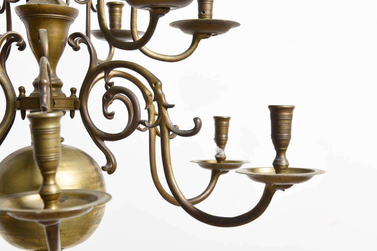 Dutch baroque 18th century bronze two tier chandelier for sale at belgian dutch baroque 18th century bronze two tier chandelier for sale arubaitofo Image collections