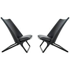 Ward Bennett Scissor Chairs