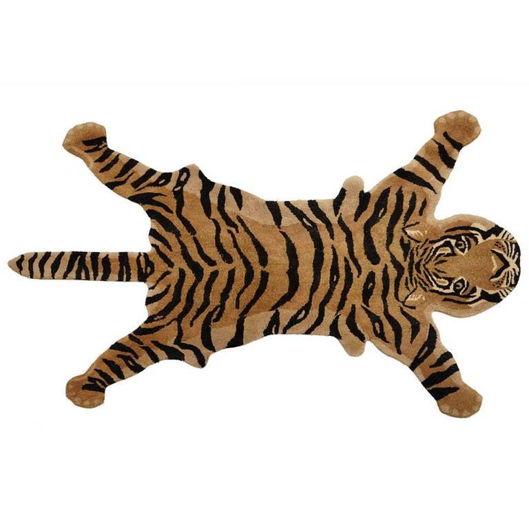 Fascinating Tiger Rug, 1960s At 1stdibs