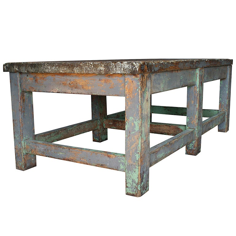 Large Coffee Table Industrial Style: Sturdy Industrial Loft Style Coffee Table At 1stdibs