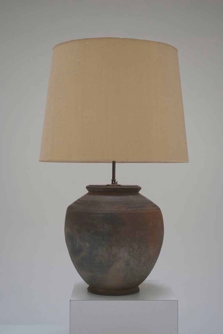 Pair Of Large 1960 S Terra Cotta Table Lamps At 1stdibs