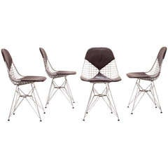 Set of 5 early DKR-2 chairs by Ray & Charles Eames for Herman Miller 1951