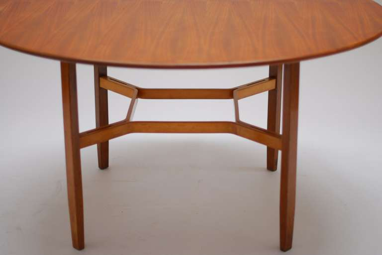 1954 walnut dining table by lewis butler for knoll for sale at 1stdibs