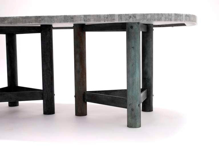 Impressive Early 1980 39 S Bronze And Marble Dining Table For Sale At 1stdibs