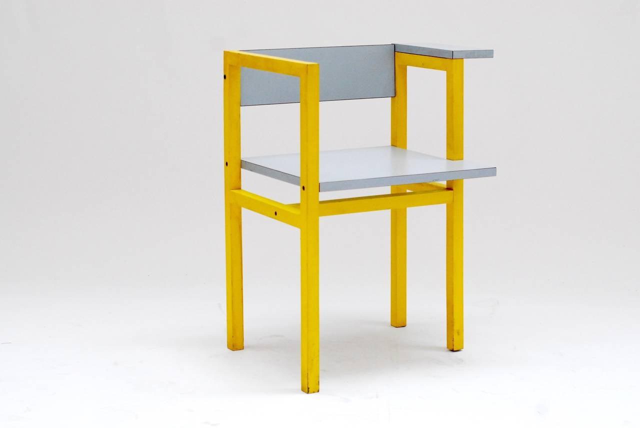 1975 Constructivist Modern Chair by Daniel Deltour 2