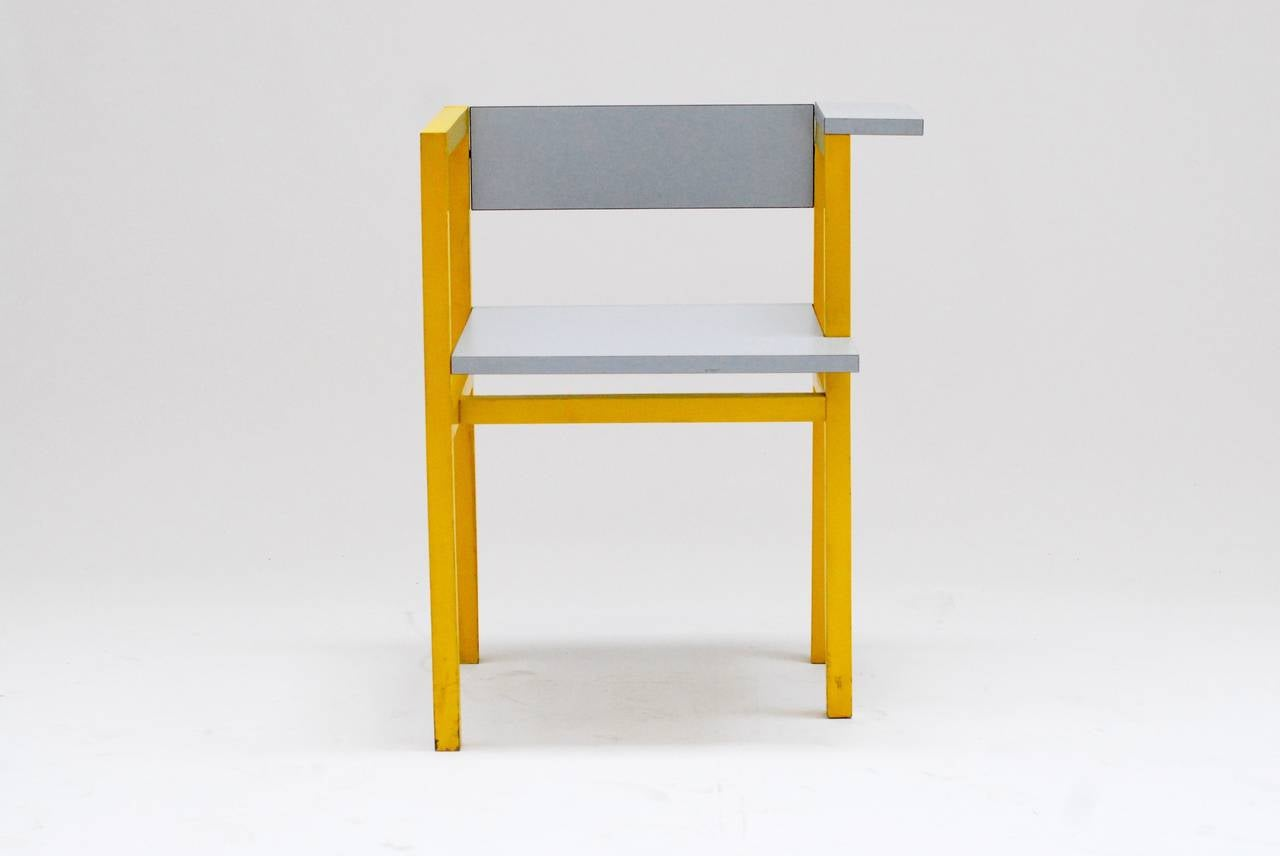 1975 Constructivist Modern Chair by Daniel Deltour 5