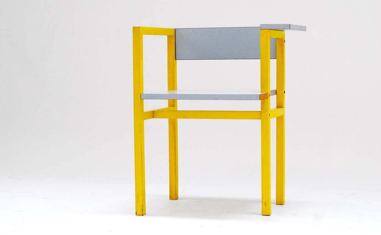 1975 Constructivist Modern Chair by Daniel Deltour 4