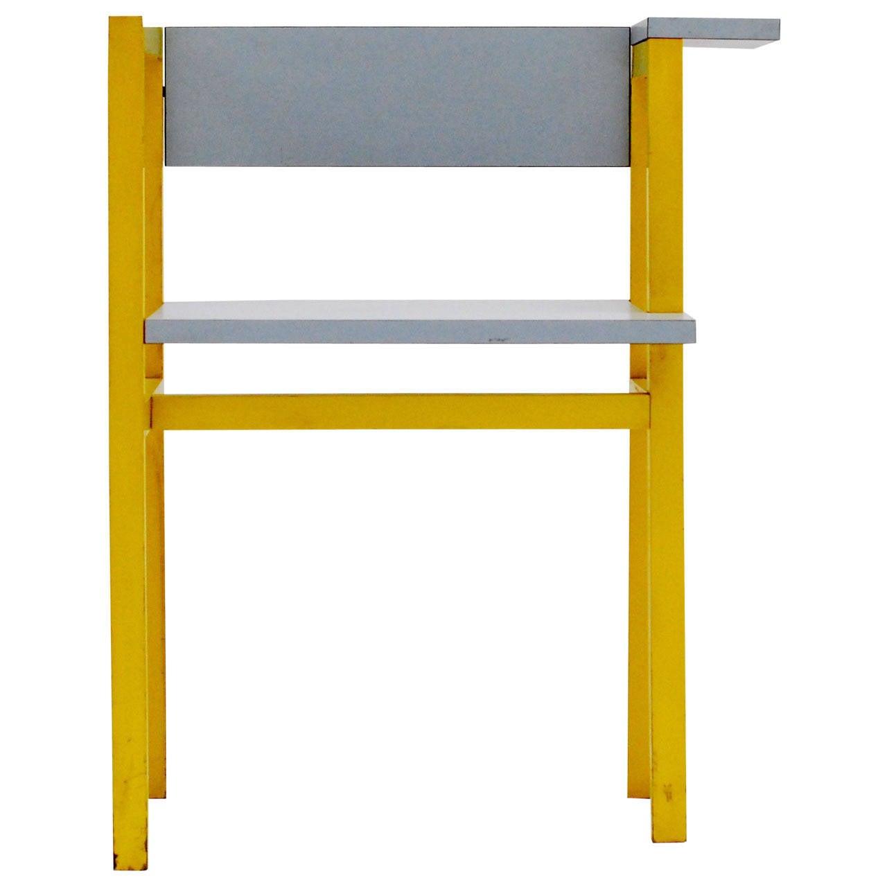 1975 Constructivist Modern Chair by Daniel Deltour 1
