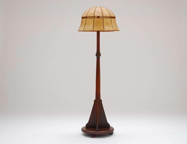 192039s solid mahogany dutch school art deco floor lamp at for 1920 s wood floor lamp