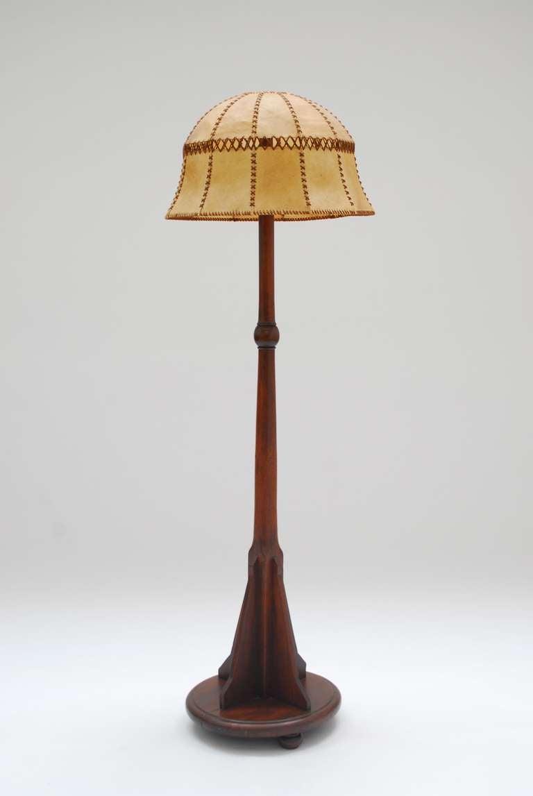 1920 39 s solid mahogany dutch school art deco floor lamp at for 1920s floor lamps