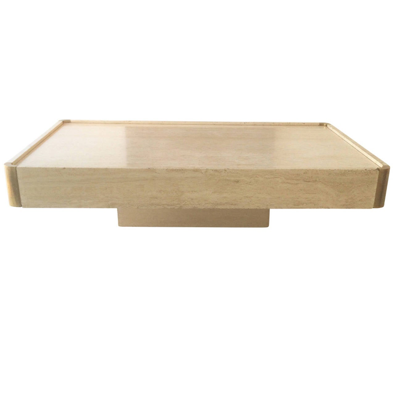 1970s Italian Travertine Coffee Table For Mario Sabot At 1stdibs
