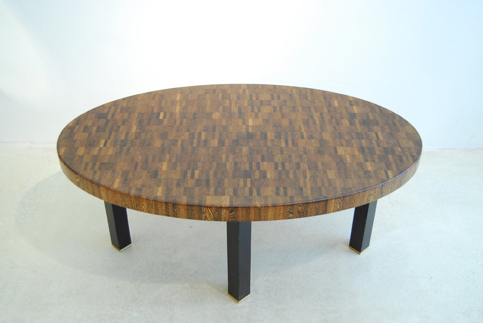 Custom made coffee table jules wabbes end grain weng 1969 at 1stdibs Wenge coffee tables