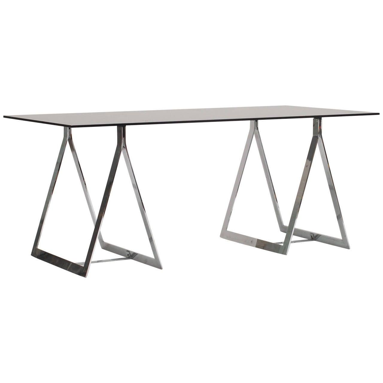 1960's Belgian Atelier sawhorse desk table 1