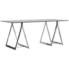 1960's Belgian Atelier sawhorse desk table