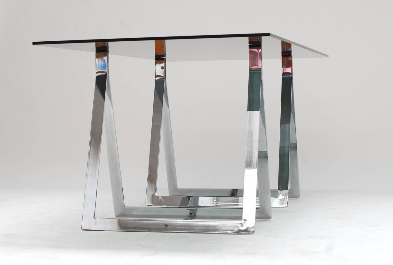 1960's Belgian Atelier sawhorse desk table 3