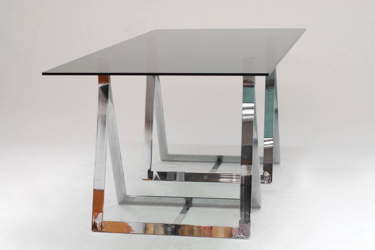 1960's Belgian Atelier sawhorse desk table 4