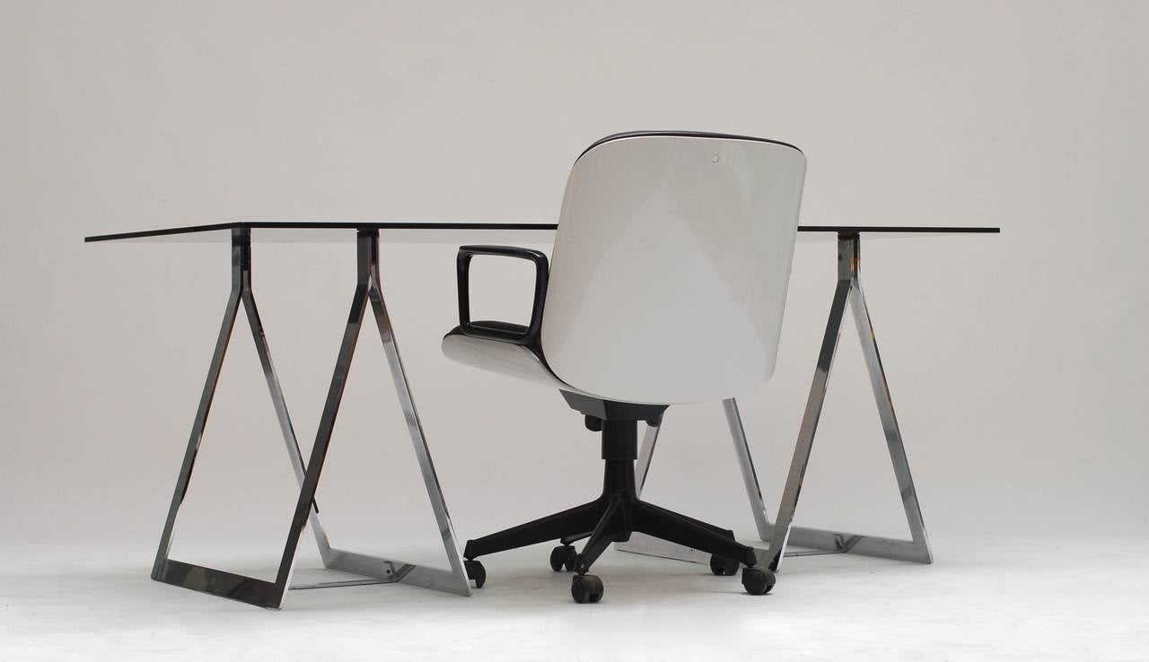 1960's Belgian Atelier sawhorse desk table 5