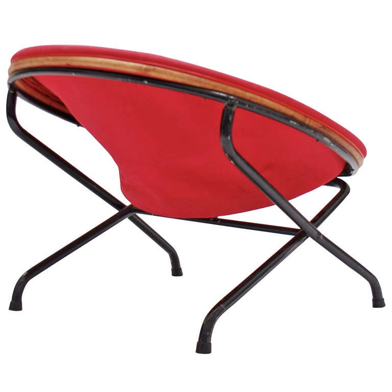 Rare and early 1950 s folding chair by Jacques Hitier for TUBAUTO at 1stdibs