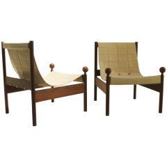 "Pair of 1960's ""Ouro Preto"" easy chairs by Jorge Zalszupin"