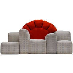 "Iconic and rare 1979 ""Sunset in Manhattan"" sofa by Gaetano Pesce for Cassina"