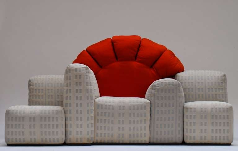 Iconic And Rare 1979 Sunset In Manhattan Sofa By Gaetano Pesce For Cassina At 1stdibs