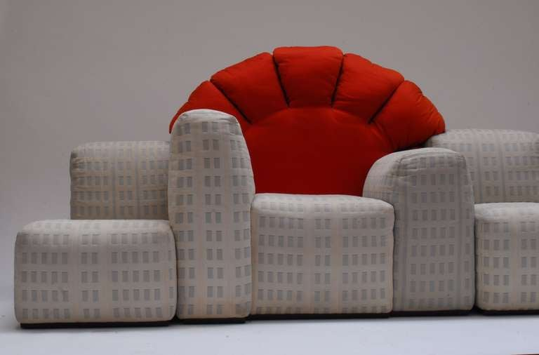 Iconic And Rare 1979 Quot Sunset In Manhattan Quot Sofa By Gaetano