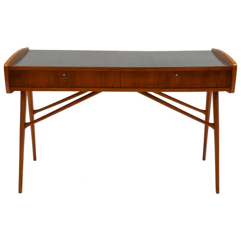 Unique 1956 commissioned cherry desk by alfred hendrickx for Unusual writing desks