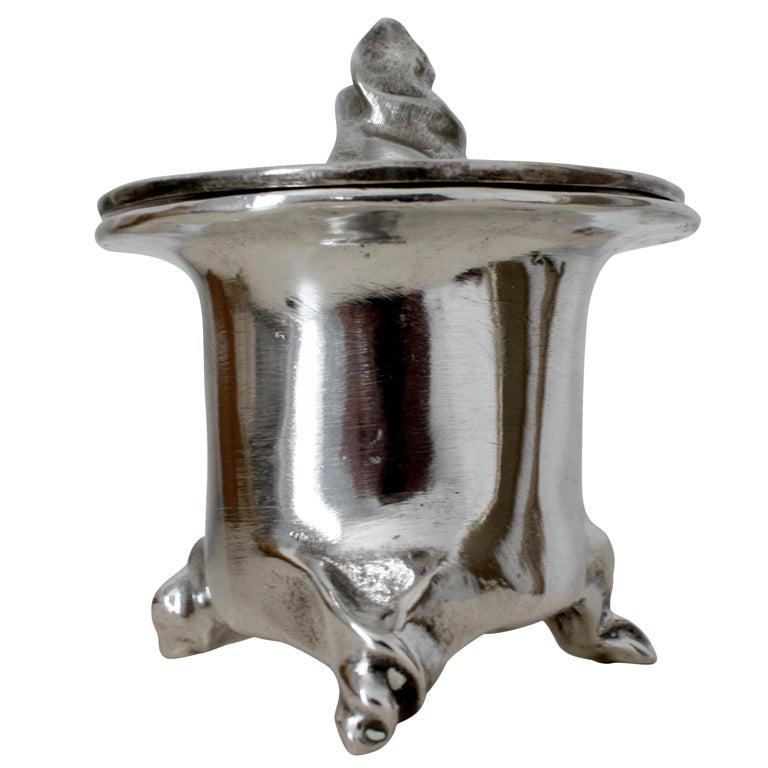 Mattia bonetti silver coated bronze pot couvert galerie for Dresser table couverts