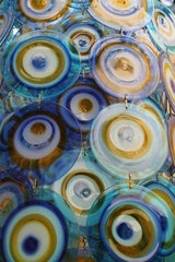 lino tagliapietra glass disc chandelier Lamurina Italy 1960's image 5