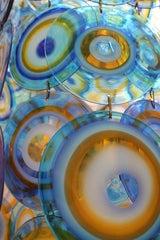 lino tagliapietra glass disc chandelier Lamurina Italy 1960's image 2