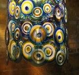 lino tagliapietra glass disc chandelier Lamurina Italy 1960's image 6