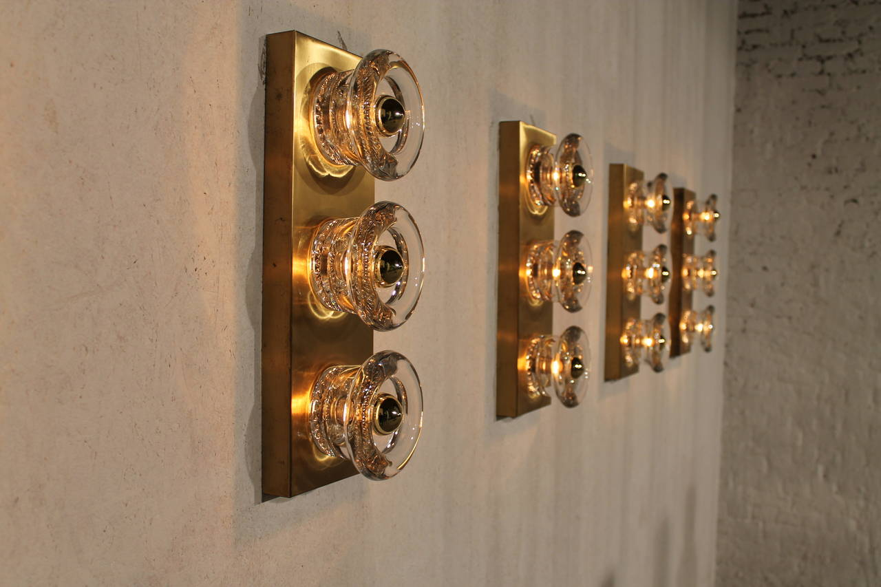 Glass Cube Wall Lights : Five Mid-Century Modernist Glass Cube Sconces, Italy, 1960s at 1stdibs