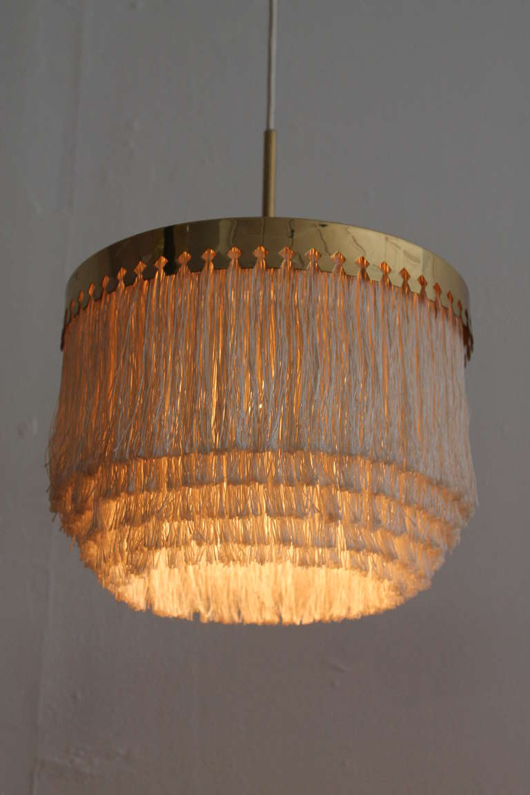 unusual ceiling lighting. a very unusual pair of hans agne jakobsson ceiling lamps in brass and fabric tassels 3 lighting