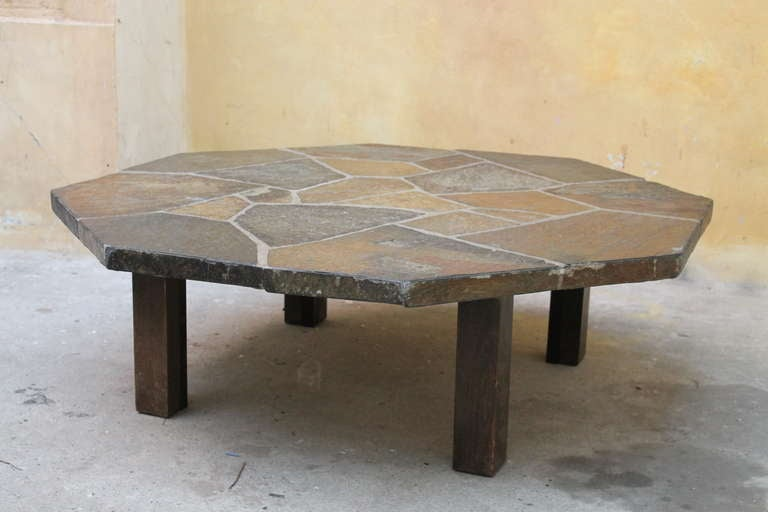 Slate Coffee Table Holland 1970s At 1stdibs