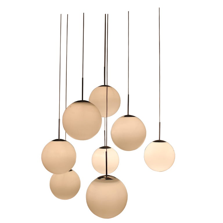 7 Peill And Putzler Glass Ceiling Lights 1960 S At 1stdibs