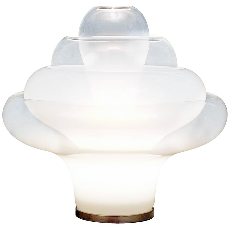Exceptional Lotus Table Lamp By Carlo Nason For Mazzega 1