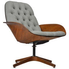 George Mulhauser by Plycraft Swivel Lounge Chair