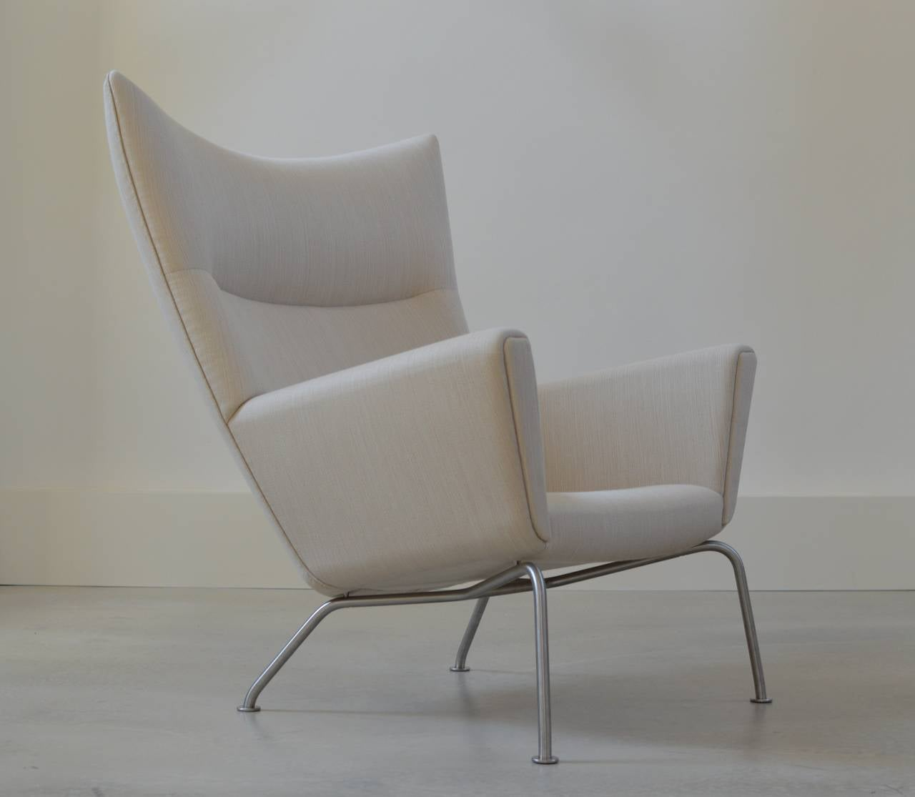 hans wegner wing chair by carl hansen at 1stdibs