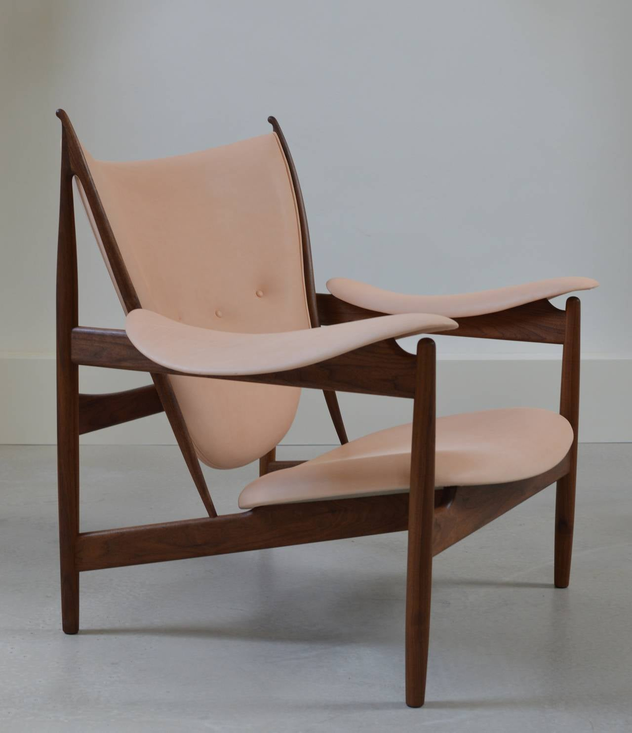 Beautiful Chieftain Chair By Finn Juhl Executed In Walnut And Vegetable Leather. The  Most Beautiful,