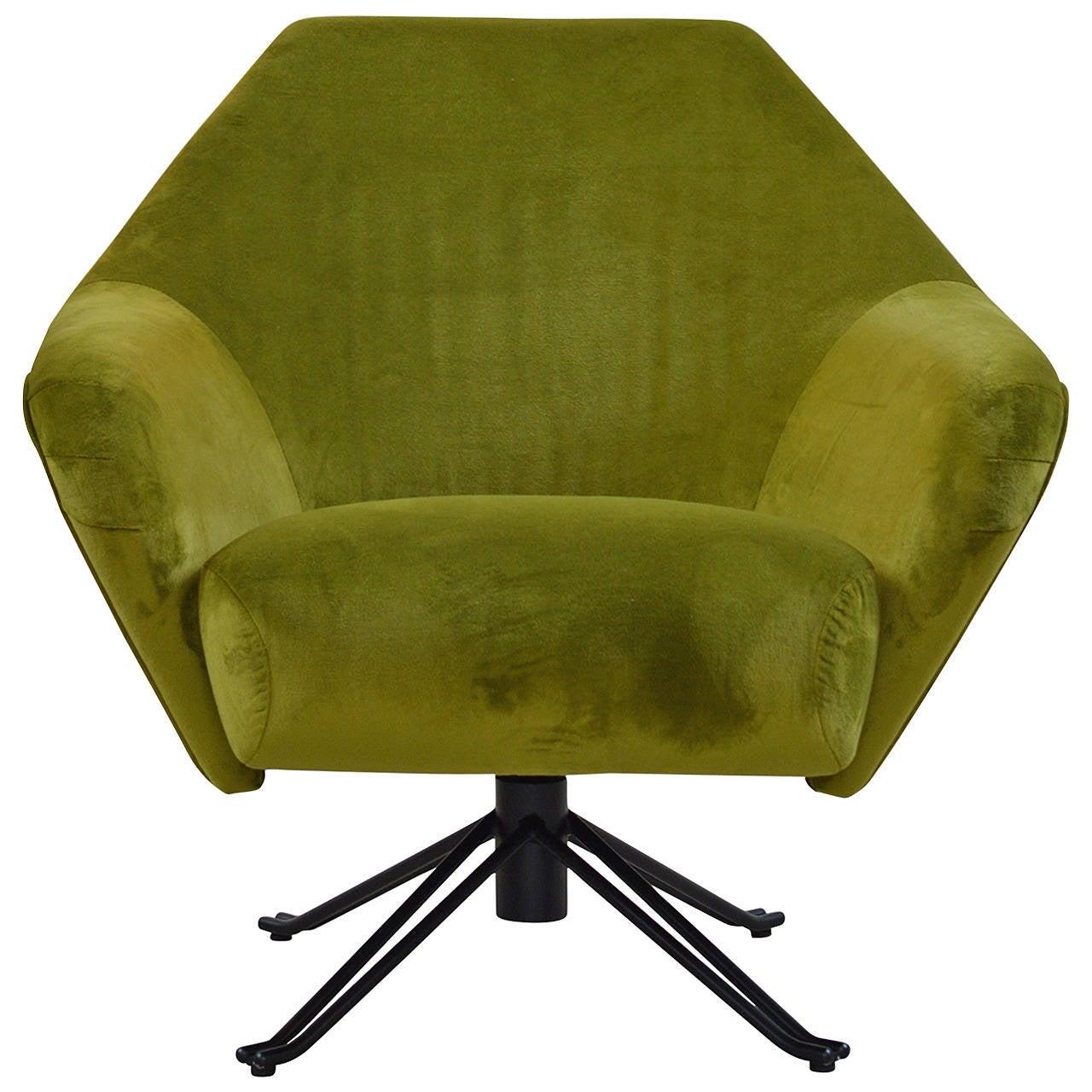Chartreuse P32 Armchair by Osvaldo Borsani for Tecno