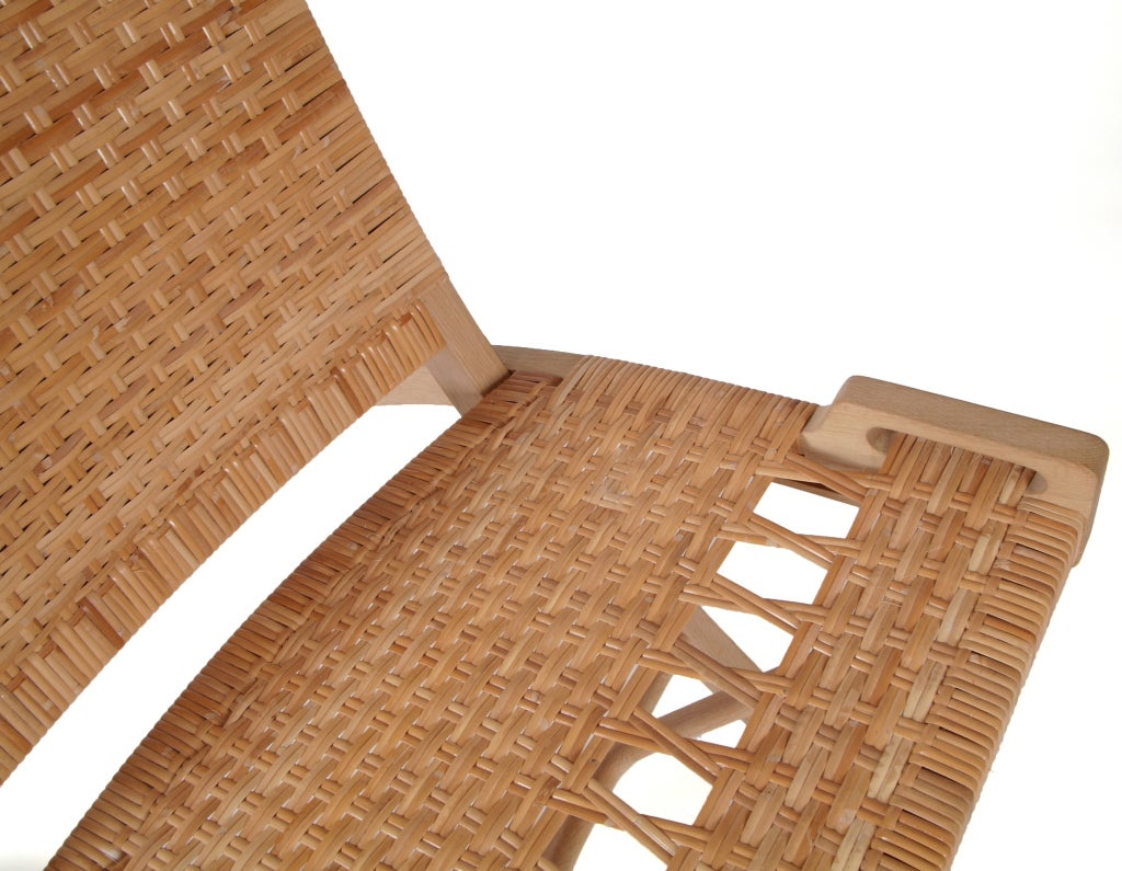 Danish Hans Wegner PP512 hand woven cane folding chair with hook