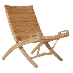 Hans Wegner PP512 hand woven cane folding chair with hook