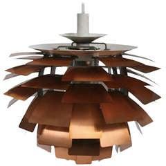 First Edition Copper Poul Henningsen Artichoke Lamp